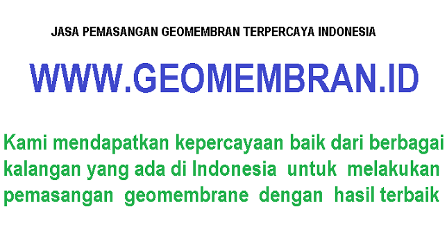 jasa pemasangan geomembrane